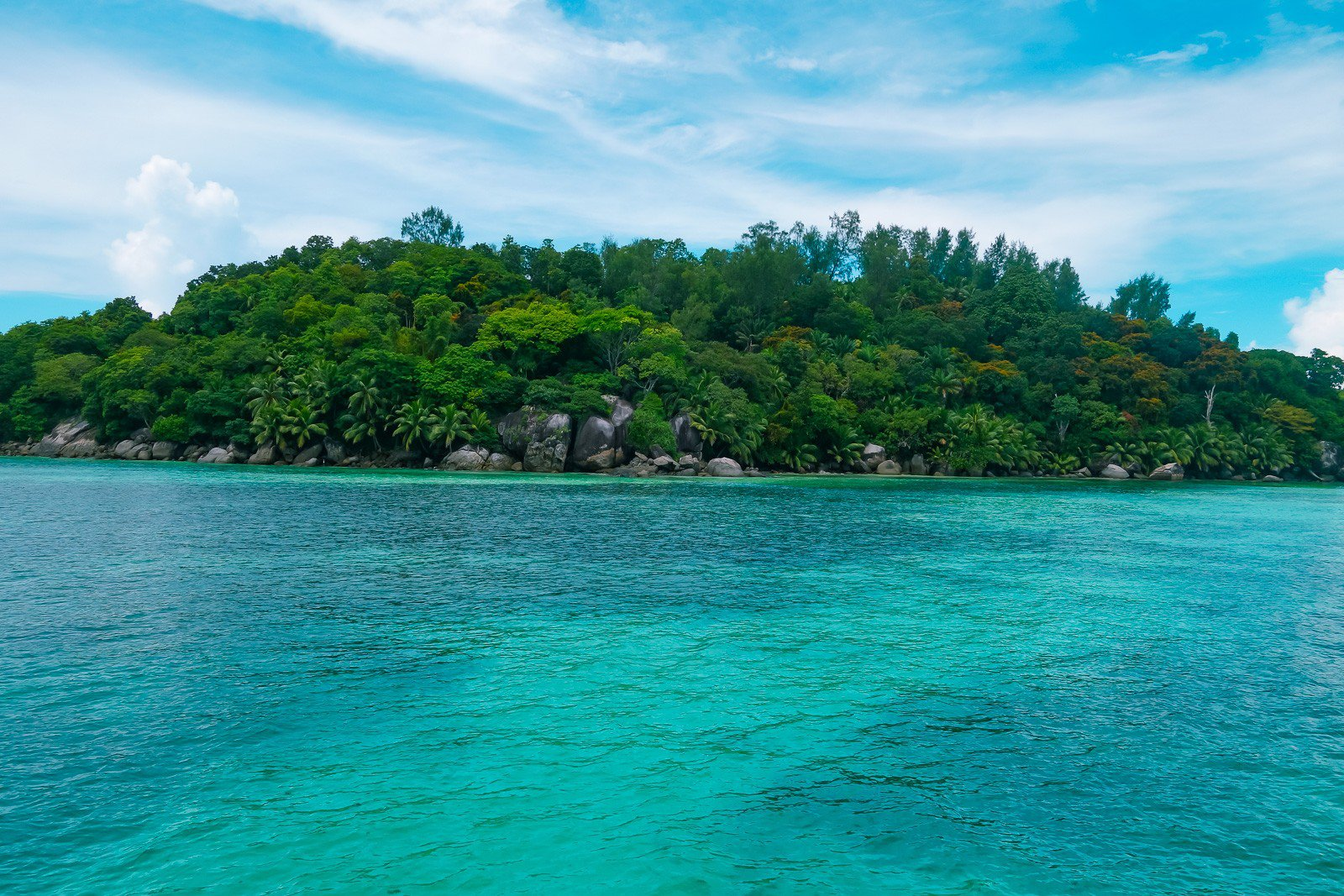 Beach on Moyenne Island, Seychelles