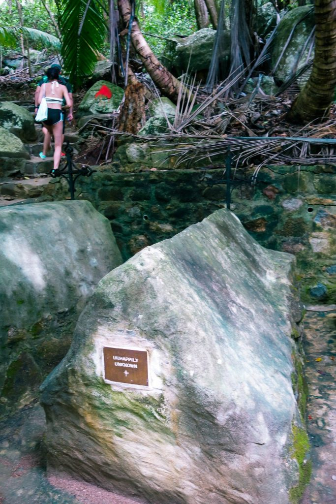 Unmarked Grave on Moyenne Island, Seychelles