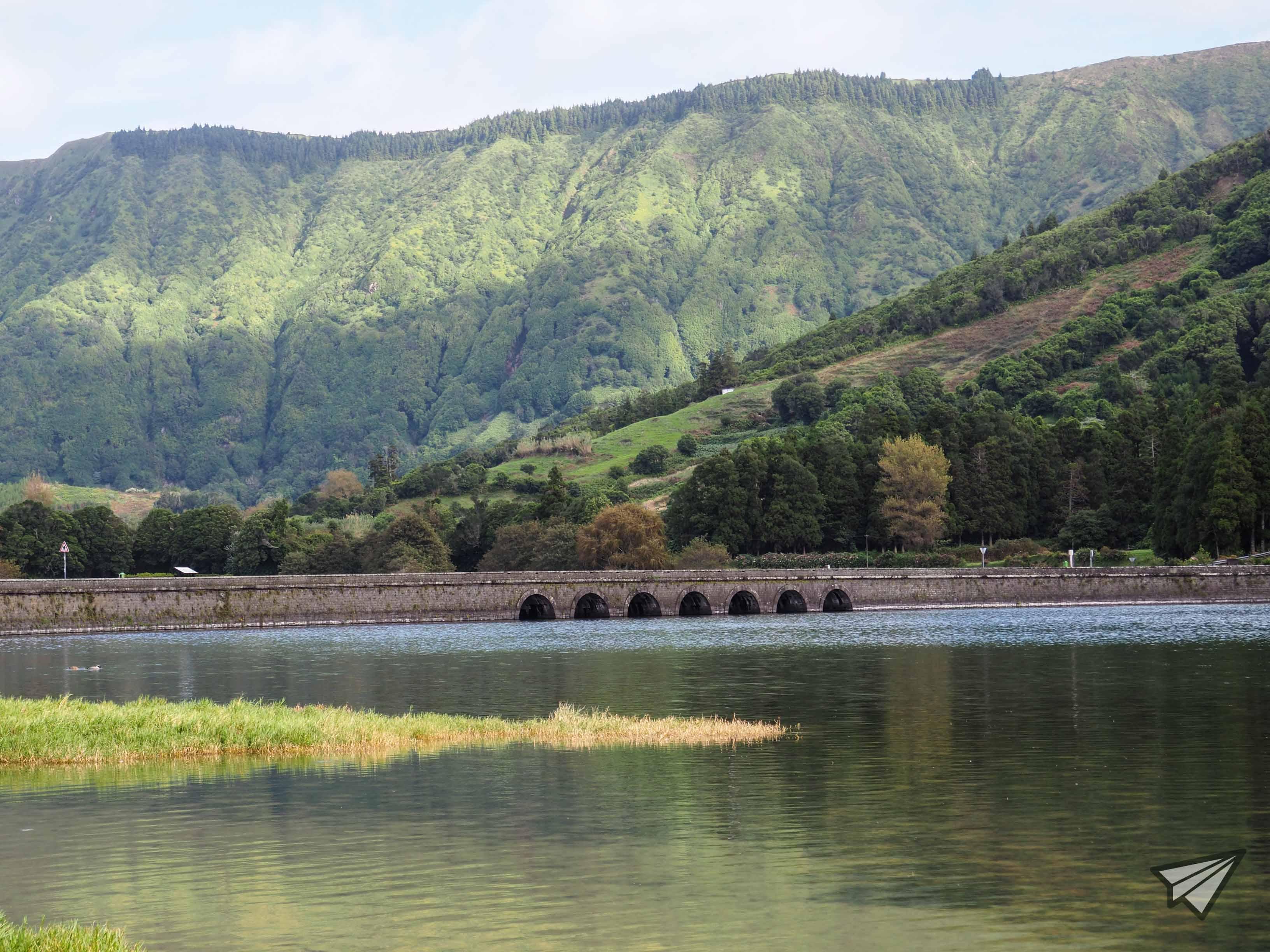Lagoa das Sete Cidades мост