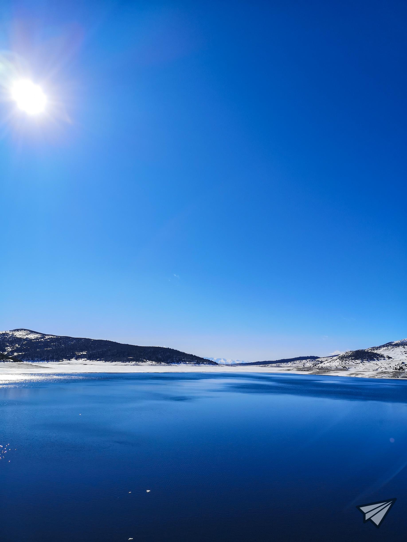 Панорама над Белмекен зима