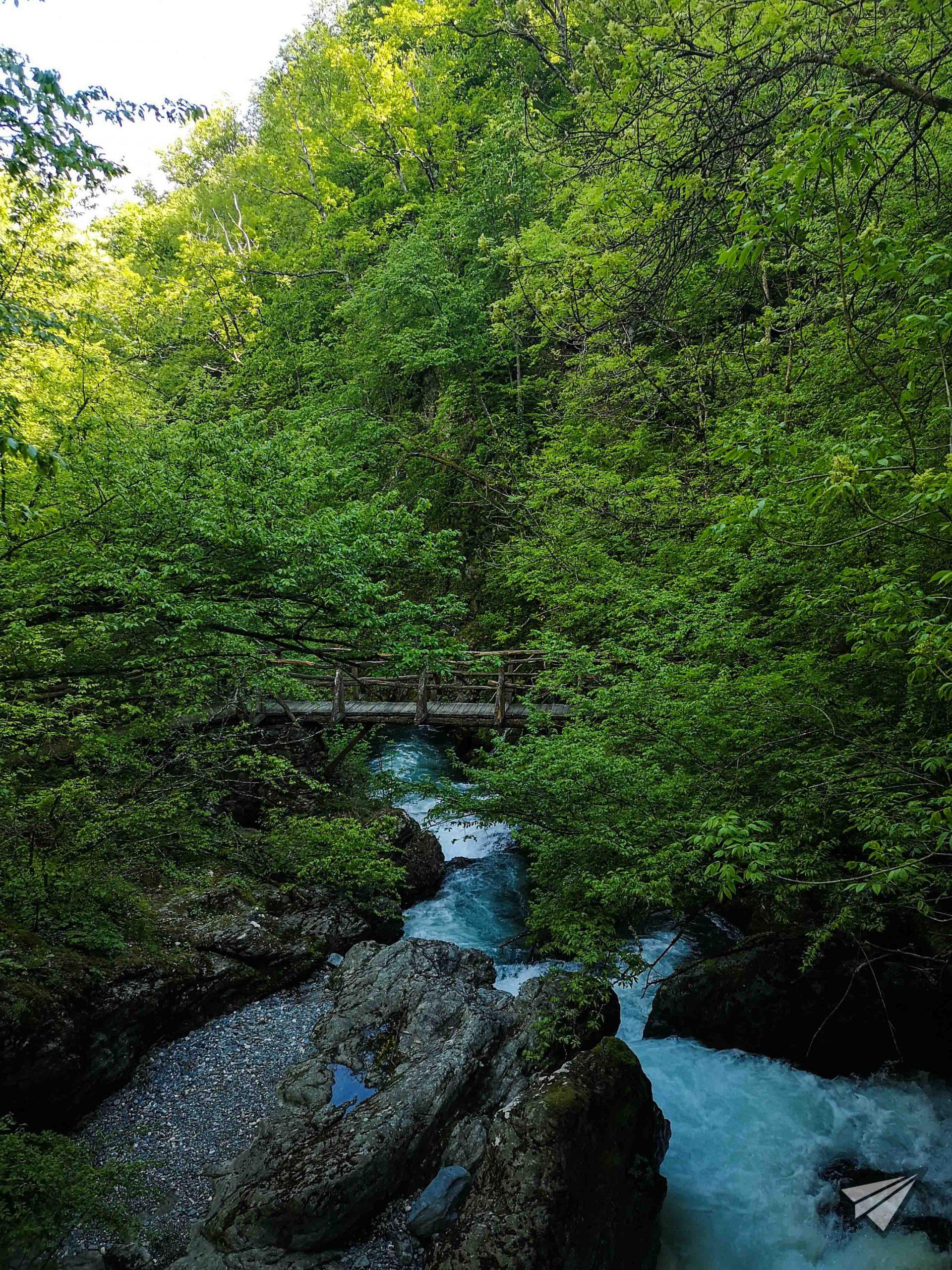 """екопътека """"Бяла река"""" мост"""